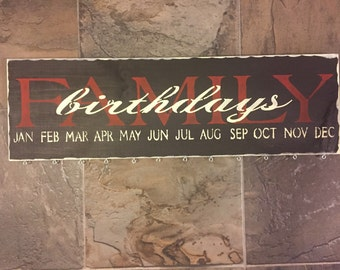Family Birthday Sign