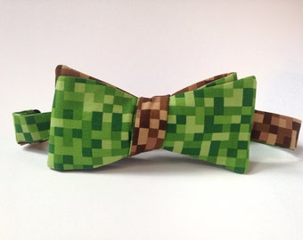 Minecraft Inspired Self Tie Freestyle Bow Tie