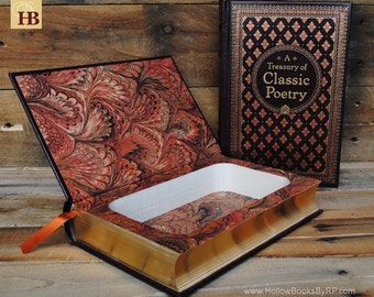 Hollow Book Safe - A Treasury of Classic Poetry - Leather Bound