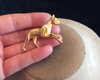 Vintage Goldtone Dog Pin