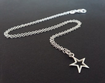 Valentine's Day Gift - Silver Star - Charms - Friends gifts - Sterling Silver Star Necklace - Dainty Necklace - Gifts for her