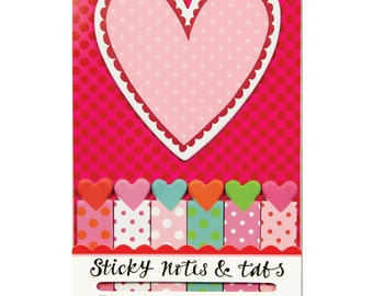 Hearts Sticky Notes & Tabs