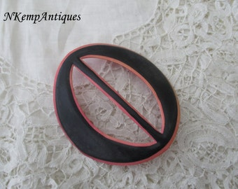 1920's celluloid buckle French