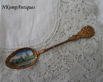 Russian enamel spoon