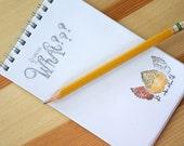 """Chicken Notepad; Guess What Chicken Butt? Wire bound 3 1/2"""" x 5 1/2"""""""