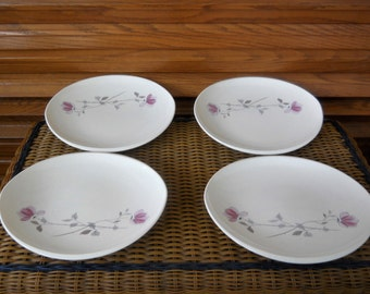 Vintage 1956 To 1961 Franciscan Duet Pattern Oval Shaped Earthenware Dinner Plates ~  Choice of Two Sets of Four  Dinner Plates