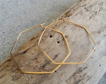 Gold Hoop Earrings, Hammered Hoops, Hoop Earrings, Hammered Earrings, Gold Earrings