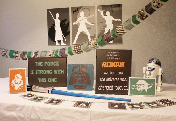 star wars baby shower decorations