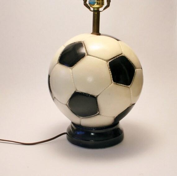 Soccer Ball Lamp Australia: Items Similar To 1960's Ceramic Soccer Ball Lamp