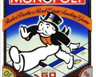 Original Nintendo Action Video Monopoly Game