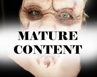 Zombie Halloween Mask - Latex Walking Dead Inspired Mask - Mature Content