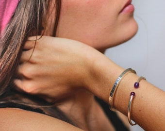Bracelet STELA half ring Silver 925 & stones