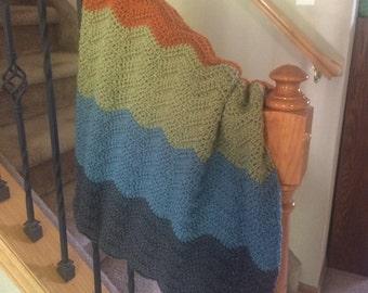 Neutral Baby Blanket - Soft Ripple Earth Tones