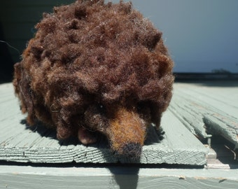 Ralf the hedgehog: Needle felted creature