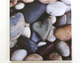 Heart Rock Tile Trivet Original Photograph