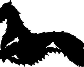 UniQ Deerhound vinyl sticker
