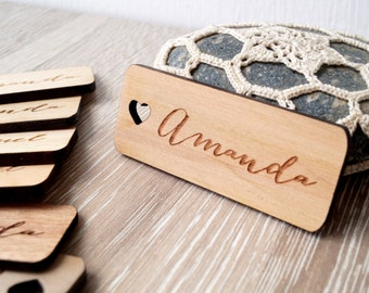 Wedding place tags, wedding place cards, wedding name tags, personalized place tags, wooden name place tags, custom engraved, 25 pc