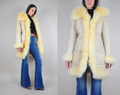 70's SHEARLING + suede Penny Lane Coat