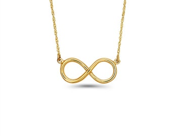 14K solid Gold Infinity Necklace, Infinity Necklace, Infinity Jewelry, Fancy Jewelry, Infinity, Love Jewelry, Gold Necklace