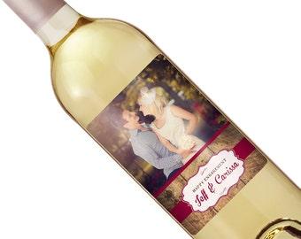 Vintage Wedding Wine Label - Custom Wine Label - Personalized Wine Label - Rustic Wedding Wine Bottle Label
