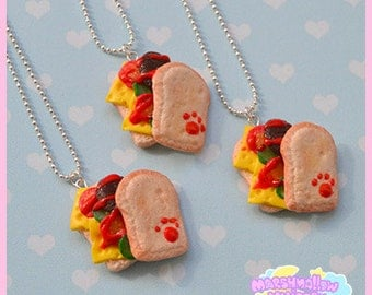 Sendwich necklace cute and kawaii