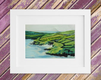 Irish Landscape Painting - Original Small Oil Painting - Kerry Coast - Coastal Ireland 13 x 10