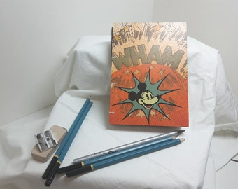 Mickey Mouse recycled hand bound sketch book