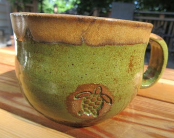 Stoneware Turtle Coffee Mug