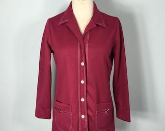 70s Blazer / Pink Blazer / Blink jacket / Vintage Blazer / Blazer / women's 8