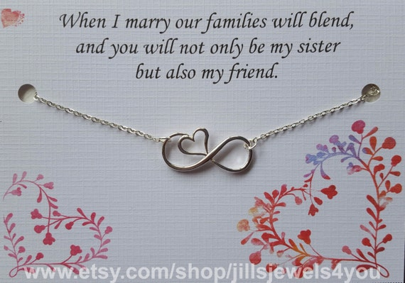 Wedding Gift For My Sister In Law : Sister Wedding Gift - Sister in Law Gift- Bridal Party Necklace ...