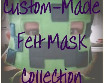 Custom-Made Felt Mask Collections - Made to Order