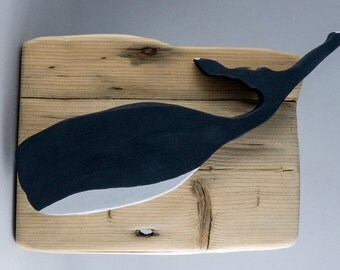 Lovely Little Whale Mounted on Driftwood # 169