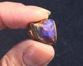 Boulder Opal Blue Vein Australian Matrix Unpolished Specimen