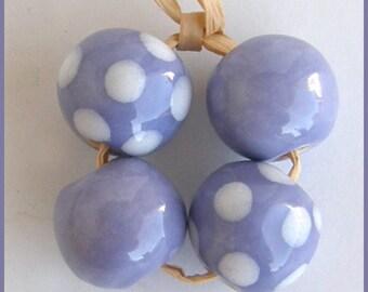 Okawa African Ceramic beads in purple Haze