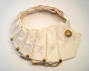 Ivory Necktie Woman Necklace Gold Steampunk Punk