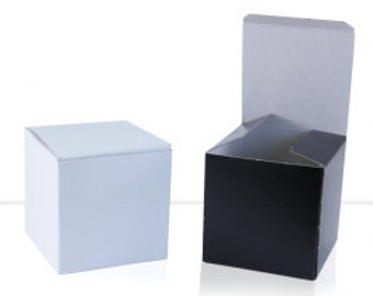 Gift Boxes for Custom Shot Glasses - Black or White Gloss
