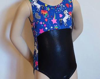Gymnastics Leotard, Girls Size 4 - Unicorn Gymnastics and Dance Leotard