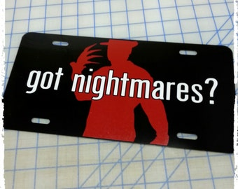 Nightmare on Elm Street Freddy Krueger Custom License Plate