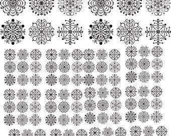 Snowflakes Glass Decal - Ceramic Decals - gold decal, silver decal, white decal, black decal  - 10074870
