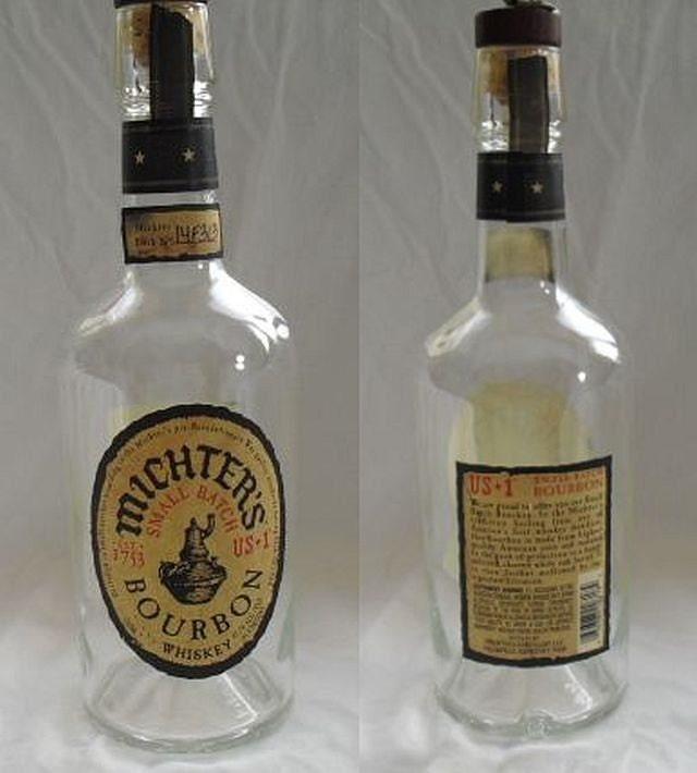 Straight bourbon whiskey 750ml 1 liter empty recycled used liquor bottles from - Uses for empty liquor bottles ...
