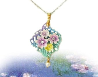 Claude Monet - Water Lily Necklace