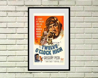 Reprint of the vintage war movie - Twelve O'clock High