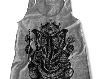 Ganesha graphic print  Women's Racerback Tank Top