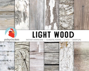 Wood digital paper, light wood, birch bark, whitewashed, painted wood, white wood, rustic wood, country wedding photography backdrop 8092