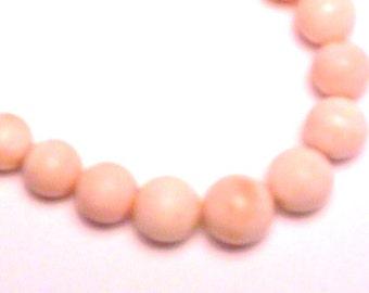 Coral Necklace Beautiful Vintage Pinkish Color
