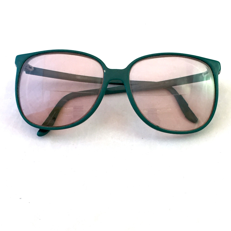 Liz Claiborne Green Oversized Sunglasses Frames, Large 80\'s ...
