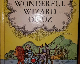 NeW SaLe ToDay....A Rare Vintage 1970 The WONDERFUL WIZARD of OZ by L Frank Baum, wizard of Oz
