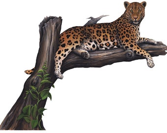 Leopard Wall Decal Sticker (58 X 45 in.)