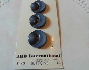 Vintage Black Buttons New On Card Vintage Sewing Notions Carded Buttons Sewing Buttons