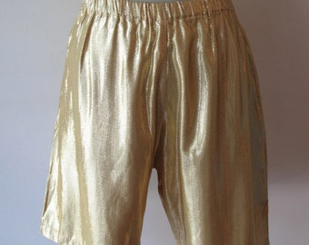 Norma Kamali Gold Shorts